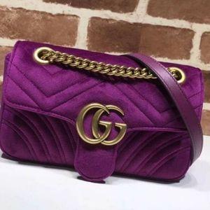 Gucci Velvet Marmont bags